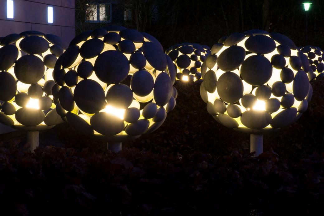 Ulrich Beier: Lichtbäume, (Foto: KUNST@SH/Jan Petersen, 2018)