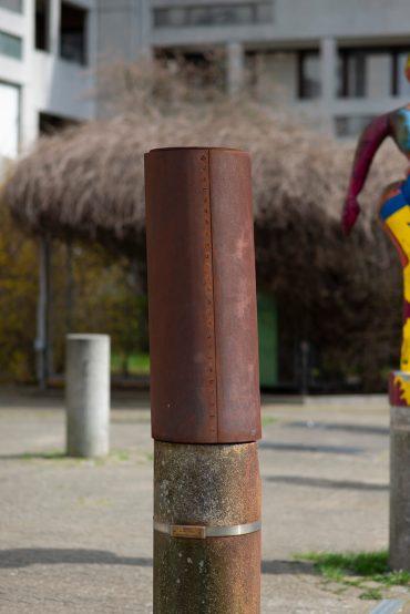 Elk Knaake: Wegmarke für Mümmelmannsberg, (Foto: KUNST@SH/Jan Petersen, 2018)