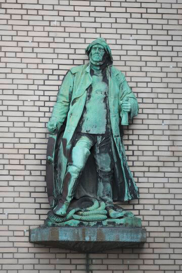 Adolf Brütt: Steuermann, (Foto: KUNST@SH/Jan Petersen)