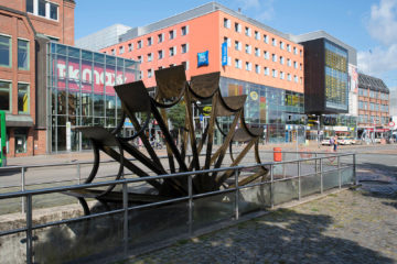 Uwe Appold: Mühlenstrom-Wasserrad, (Foto: KUNST@SH/Jan Petersen)