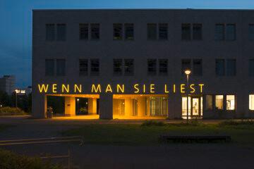 Elsbeth Arlt: Manche leuchten, wenn man sie liest, (Foto: KUNST@SH/Jan Petersen)