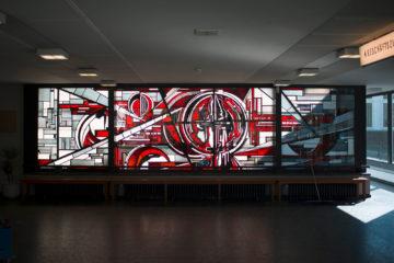 Ernst Günter Hansing: Glasfenster, (Foto: KUNST@SH/Jan Petersen, 2017)