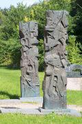 Heinrich Schwarz: Zwei Bronzestelen