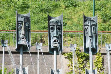 Hermann Sörensen: Maskenbrunnen, (Foto: KUNST@SH/Jan Petersen, 2015)