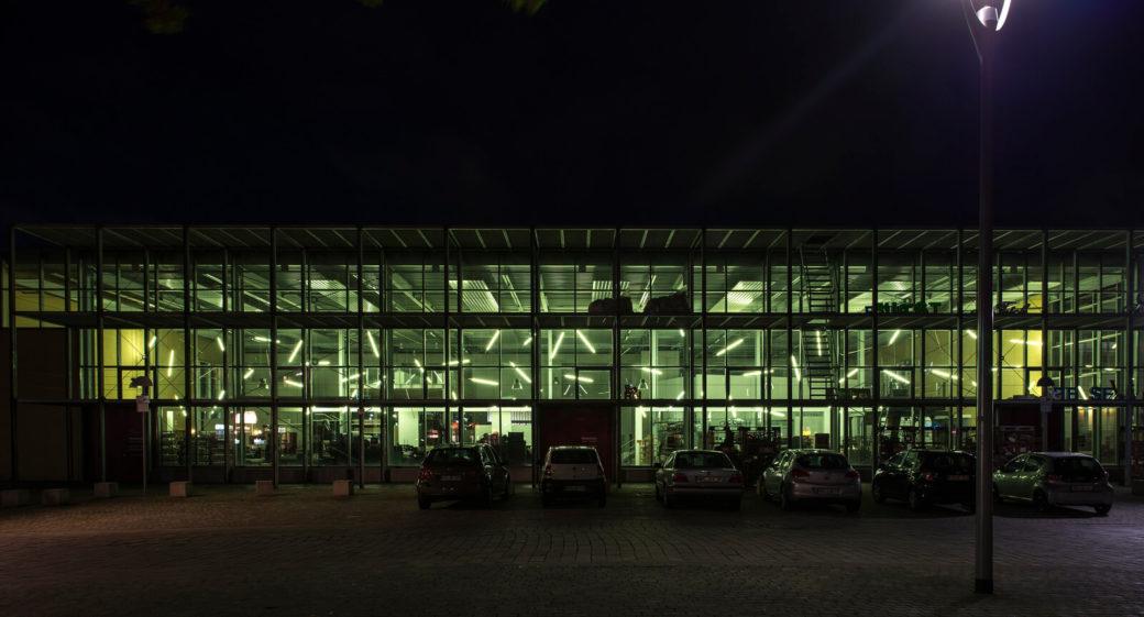 Hans Peter Kuhn: Lichtwand, (Foto: KUNST@SH/Jan Petersen)