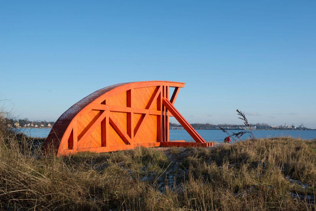 Ojārs Pētersons: Brücke über das Meer, (Foto: KUNST@SH/Jan Petersen)