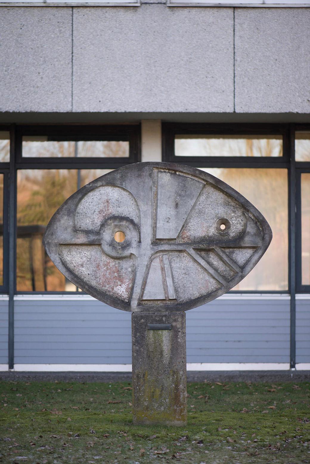 Pierre Schumann: Geometrisches Relief, (Foto: KUNST@SH/Jan Petersen, 2017)