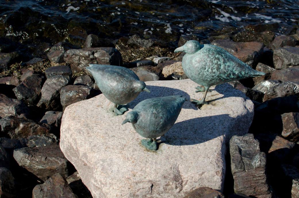 Vogelgruppe am Südstrand, (Foto: KUNST@SH/Jan Petersen)